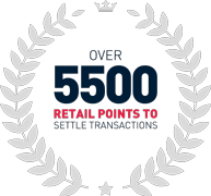 Over 5500 retail points