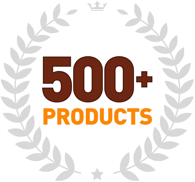 Over 500 products